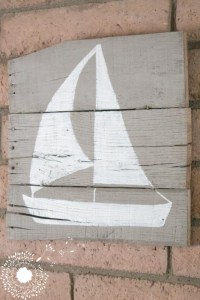 Driftwood Inspired Sailboat Sign