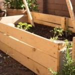 Garden bed from a rejected fence panel {www.lovelyweeds.com}