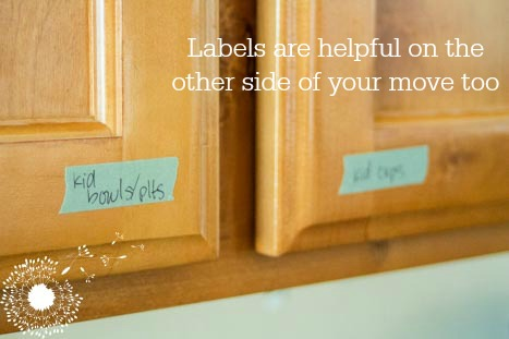 Labeling your cabinets and drawers help everyone get used to your new kitchen! {www.lovelyweeds.com}