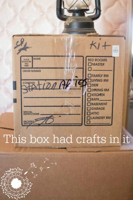 Movers don't always write helpful things on boxes {www.lovelyweeds.com}