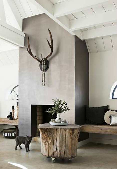 Fireplace focal point, via Style Files