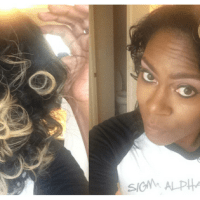 Natural Hair Curls Using Perm Rods