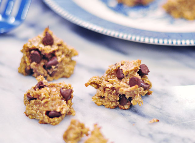 3 ingredient cookies-banana peanut butter oatmeal recipe 2