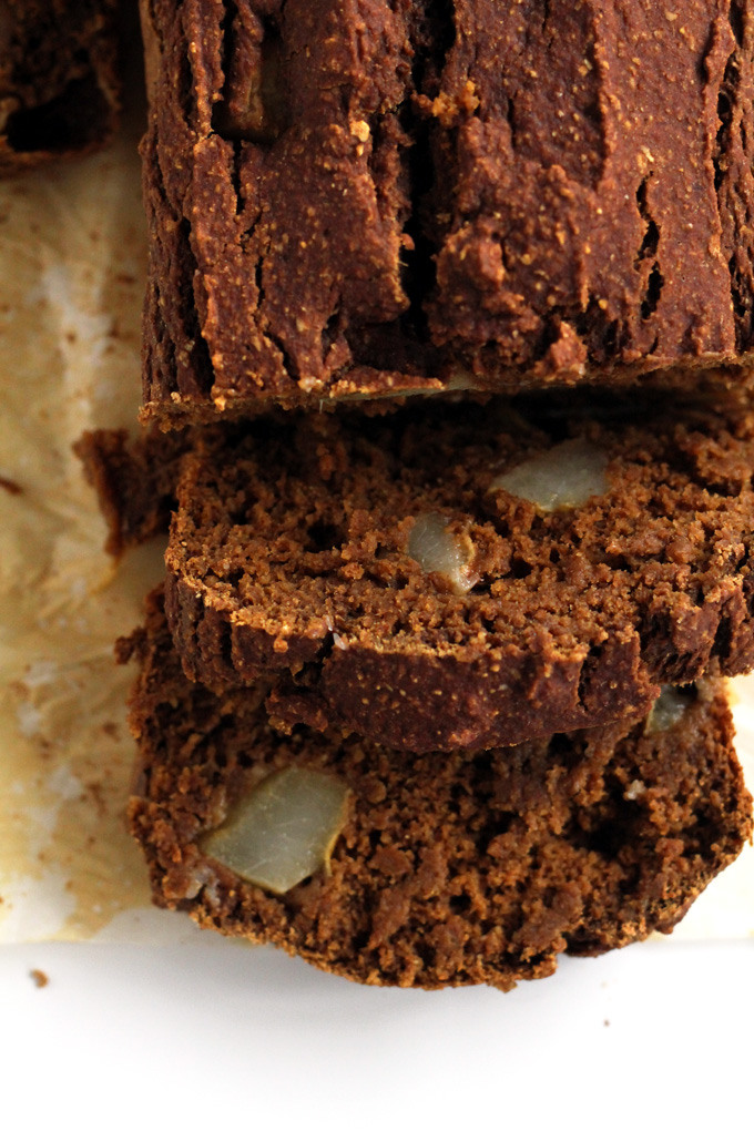 vegan pear pumpkin gingerbread loaf | love me, feed me