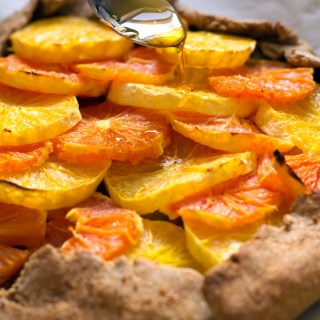 rosemary orange galette with chamomile maple syrup + 4 citrus packed recipes!