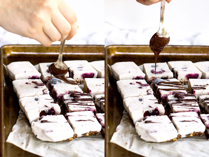 vegan roasted cherry chocolate ice cream bars | love me, feed me