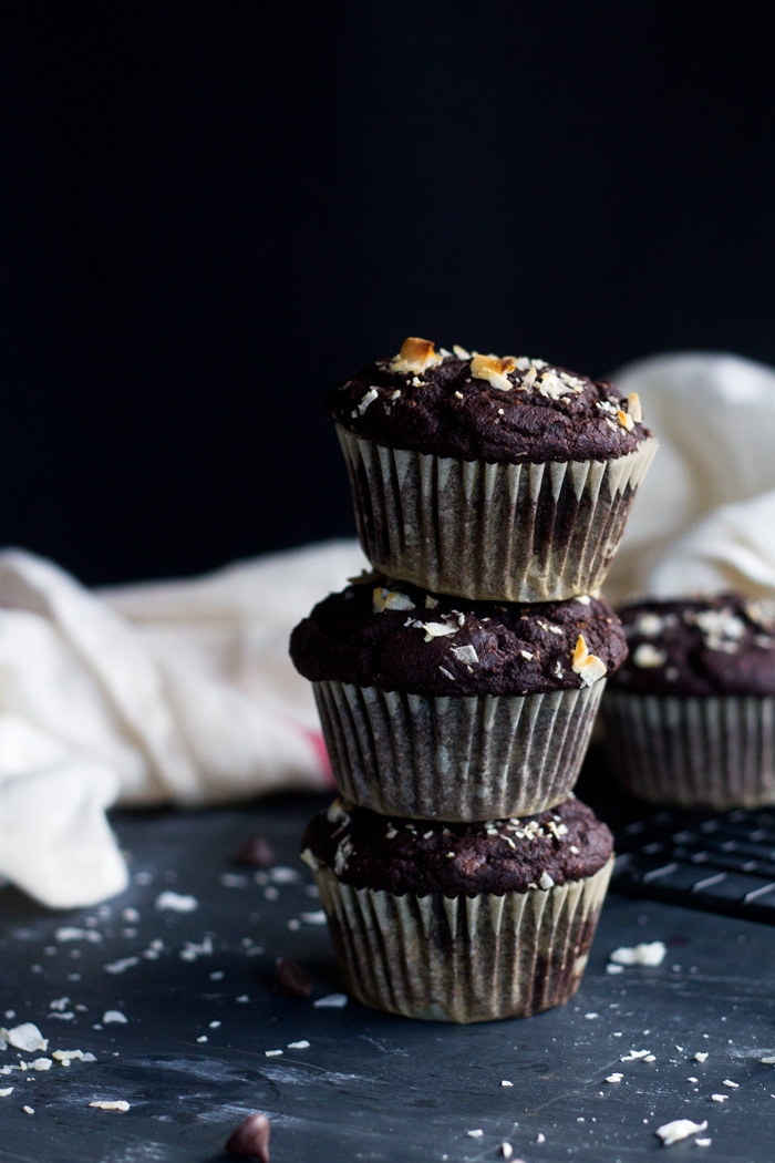 vegan spicy chocolate muffins | love me, feed me