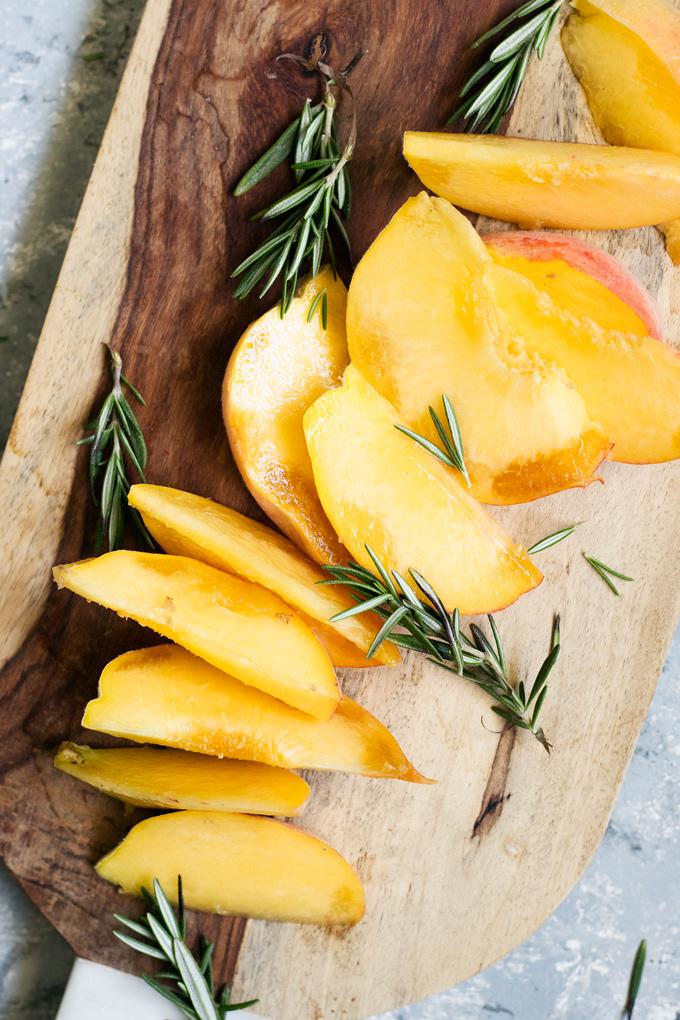 simple peach rosemary jam recipe (maple-sweetened) | love me, feed me