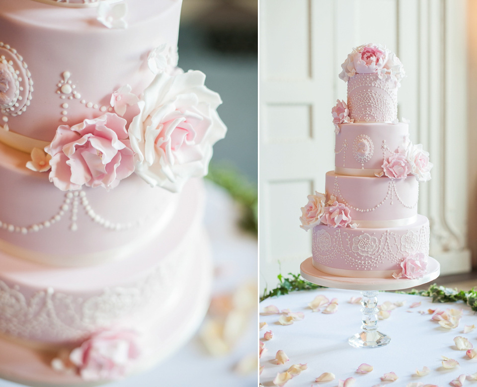 traditional english wedding cake recipe pretty pink peonies and pronovias for a traditional 21133