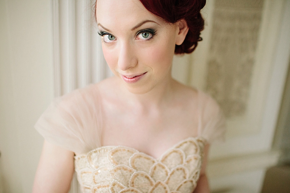 A Gold Tulle Gown For A 40s And 50s Vintage Inspired
