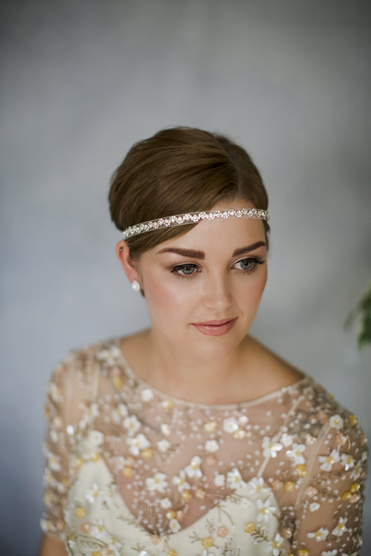 greta headband by debbie carlisle how to style wedding hair accessories with short hair