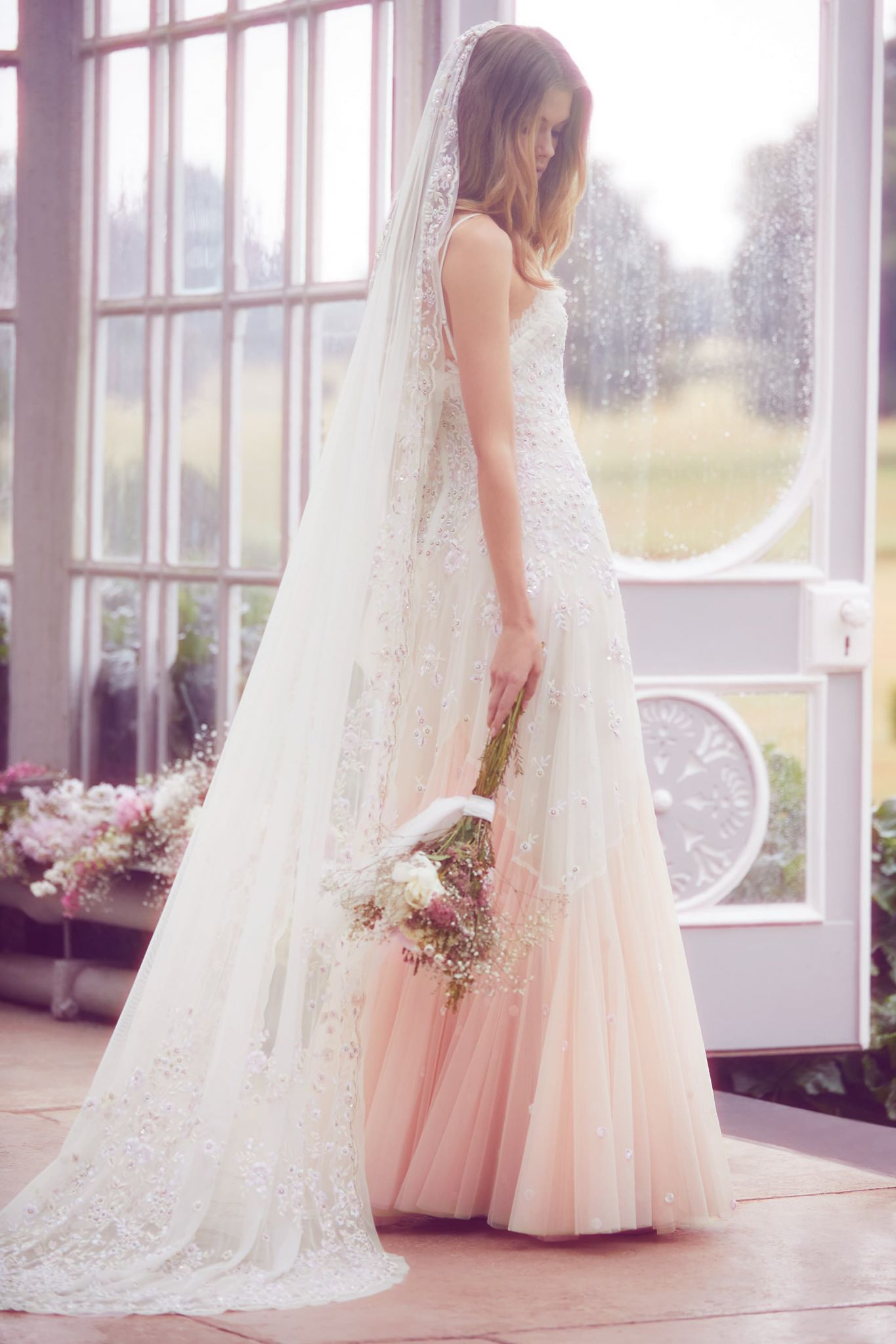 b46b18f6c8e Needle Thread London Rose cami tinted gown SS collection - New Needle   Thread  Wedding Dresses