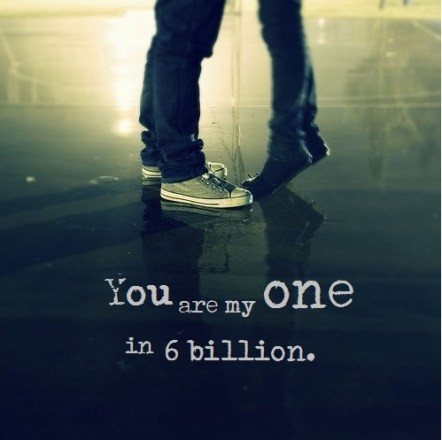 you are my one in a billion dp