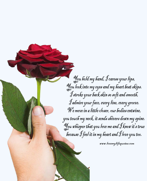 you hold my hand heart touching love poem for her