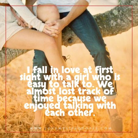 I fall in love at first sight with a girl