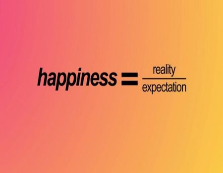 Happiness is equal to
