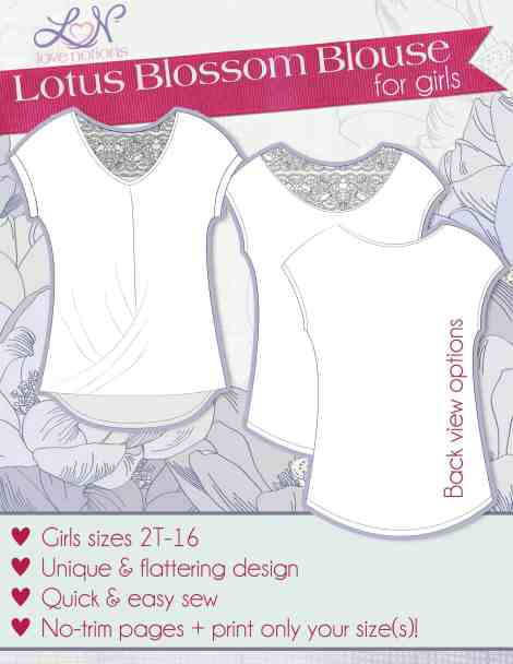 Love Notions Lotus Blossom Blouse Pattern