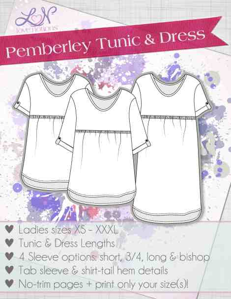 Pemberley Tunic and Dress Pattern