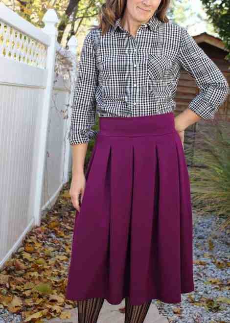 Pleated midi length