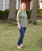 Tabitha Top with shirttail hem