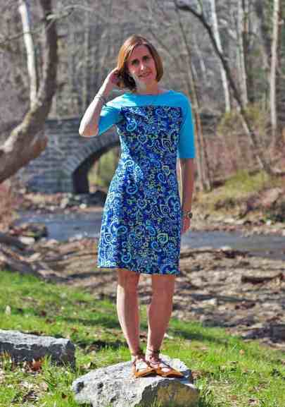 Tessa Sheath Dress with yoke
