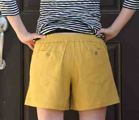 """Back view of the Summer Caye 6"""" shorts back"""