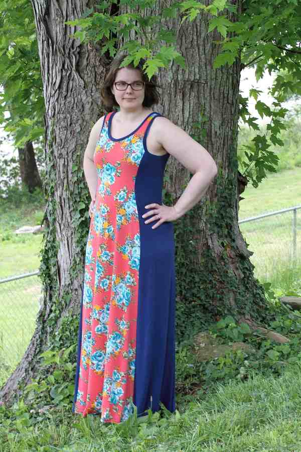 Tidal tank maxi dress