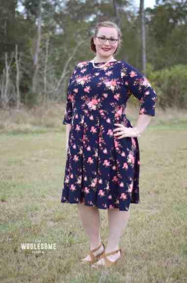 Tessa Sheath dress paired with Sybil pleated skirt