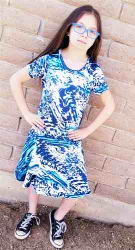 Prisma dress with flared skirt