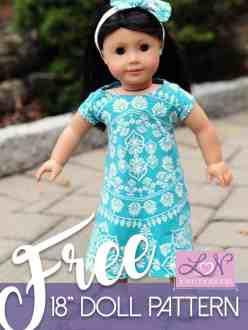 American Girl free swing dress pattern
