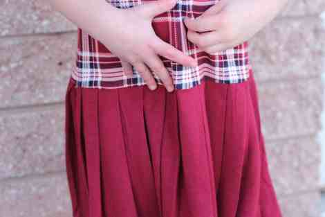 Prisma pleated skirt