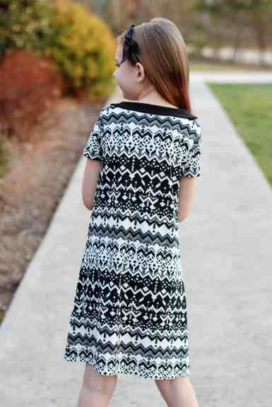 Prisma a-line dress with Peter Pan collar