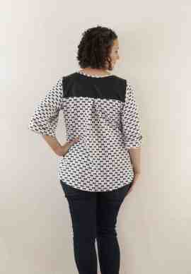 Rhapsody Blouse 3/4 sleeve with cuff
