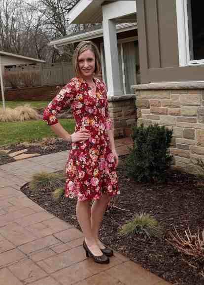 3/4 sleeves, knee length Olympia Dress