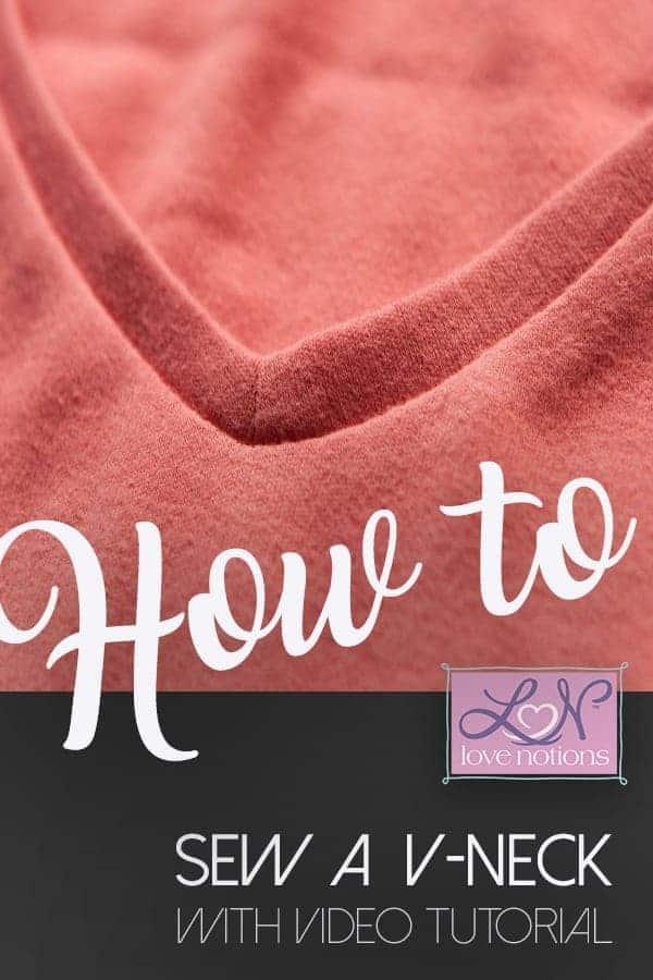 How to sew a v-neck video tutorial