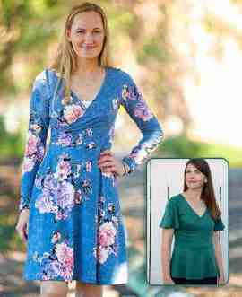 Willow Wrap Dress pdf pattern