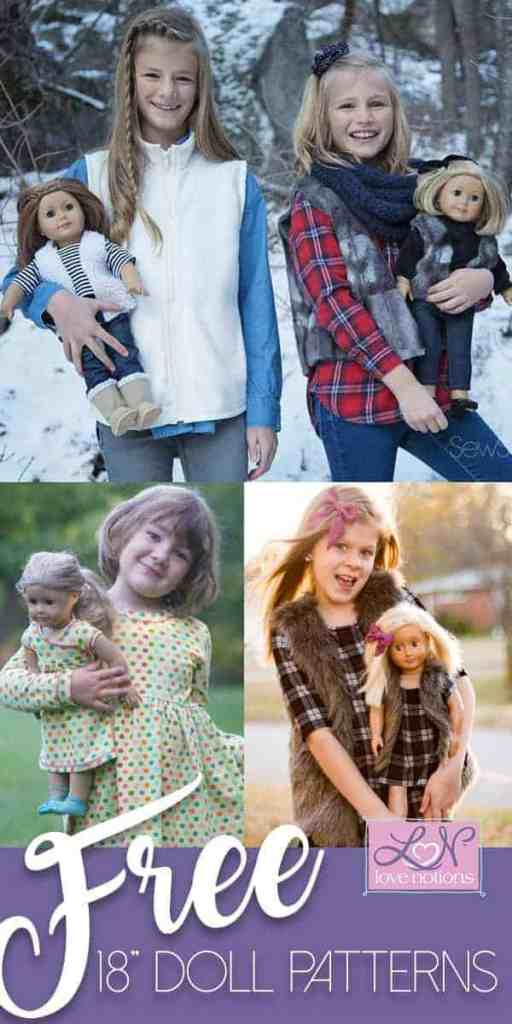 Sweet matching doll + girl outfit patterns~ get 3 free now!