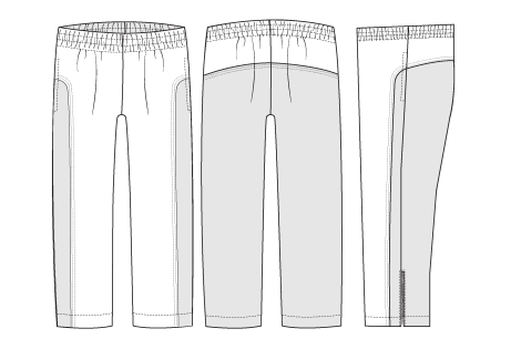 Track pants line drawing