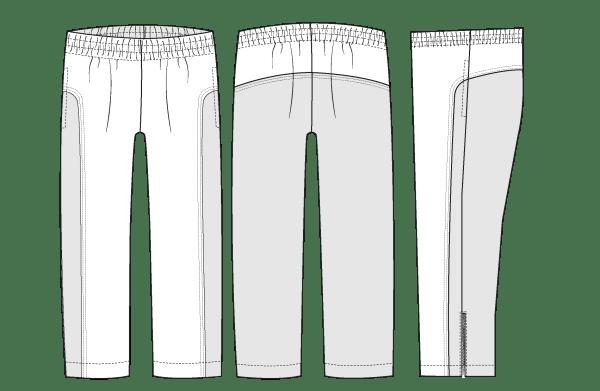 Track pants line drawing