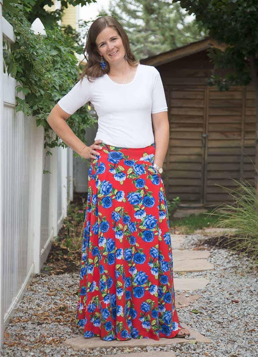 Love Notions Ravinia Skirt Pdf Pattern With Pockets Xs Xxxl Petal Olive Maxi