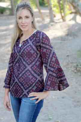 Rhapsody Blouse 3/4 sleeve with flare