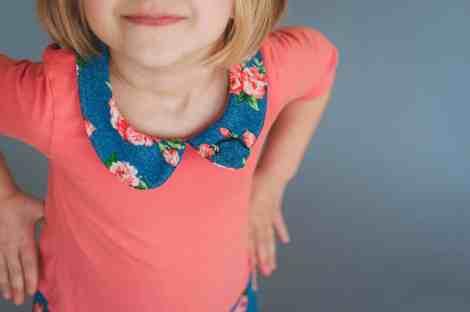 Prisma dress with Peter Pan collar
