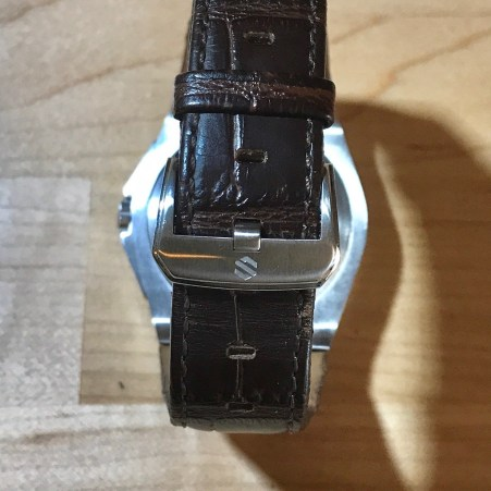 Leather strap with standard pin buckle