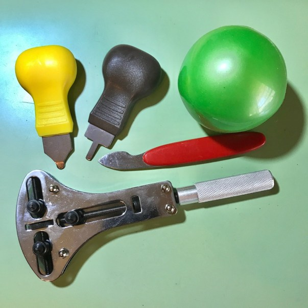 Various case back removal tools