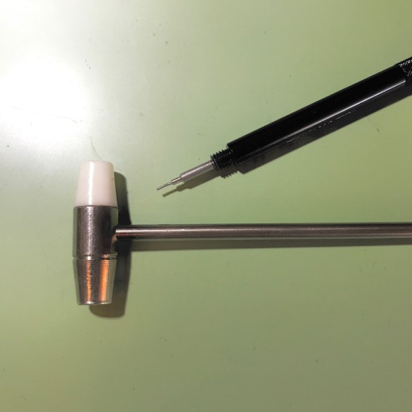 Hammer and pin punch for bracelet adjustments