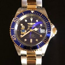 Perpetual Girl's fun Invicta Donald Duck homage to Rolex two-tone Submariner