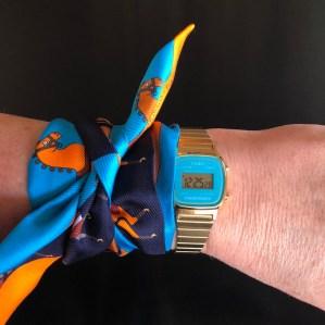 Hermes Twilly Scarf - $170 USD - hermes.com Casio LA670WGA-2 Women's Watch - $27.99 - amazon.com