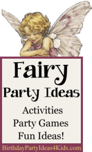 Fairy themed birthday party ideas from www.birthdaypartyideas4kids.com
