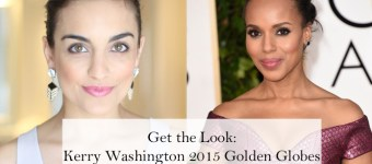 Kerry Washington Golden Globes Inspired Makeup and Hair Tutorial + GIVEAWAY