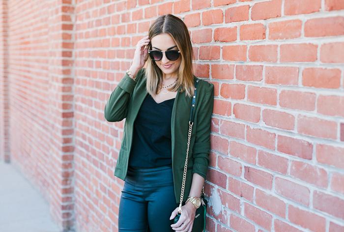 Olive Green Target Blazer